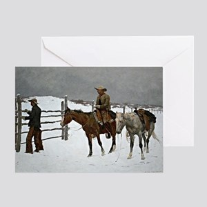 Remington: Fall of the Cowboy Greeting Card